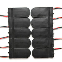 10X DIY 3V Button Coin Cell Battery Holder Case Box With  On-Off Switch CR2RASK