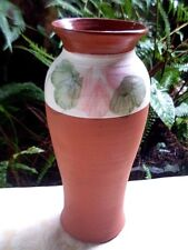 Hand-painted ROBERT GORDON AUSTRALIA Tall Terracotta Pottery Vase - in Australia