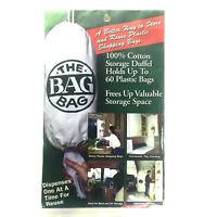 THE BAG BAG 100% Unbleached Cotton Plastic Bags Storage Duffel Kitchen RV NEW