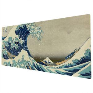 90x40cm EXTRA LARGE XXL Mouse Pad Mat Full Desk Great Wave Kanagawa Retro