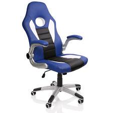 Racing Sillón de Jefe azul silla de oficina silla giratoria silla de oficina Gaming silla para escritorio