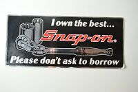 """Vintage NOS Snap-on Tool Box Decal """"I Own The Best.."""" P/N SS792 Made in USA!"""