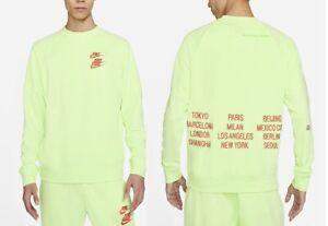 Mens Nike Sportswear Crew Sweatshirt Embroidered Green M L XL XXL