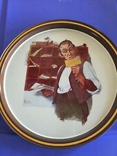 Norman Rockwell limited edition metal tray
