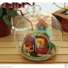 Maisons de poupées miniatures en plastique en kit