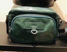 Hugo Boss Shoulder Bag Green 100% Leather Genuine