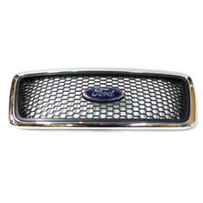 2004-2008 Ford F150 XLT Front Mesh Chrome Grille & Emblem OEM NEW 6L3Z-8200-AA