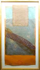 "Scott Sandell ""Island"" Signed & Numbered framed Mixed Media Artwork MAKE OFFER"