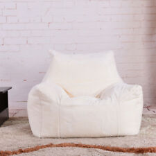 0b0b0fbe083c Fluffy Bean Bag Chairs for Adults Kids Sofa Couch Cover Plush Armchair  Lounger