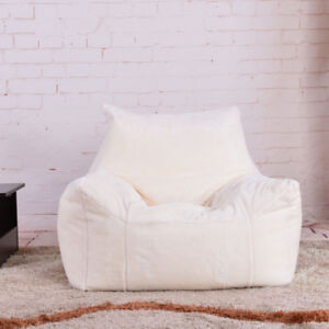 Fluffy Bean Bag Chairs for Adults Kids Sofa Couch Cover Plush Armchair Lounger