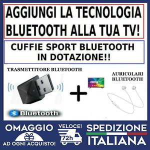 Trasmettitore Bluetooth  TV + CUFFIE BLUETOOTH ASCOLTA TV CON CUFFIE  🇮🇹