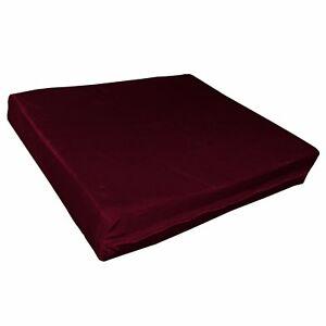 mo137t Deep Red Shimmer Velvet Style 3D Box Sofa Seat Cushion Cover Custom Size