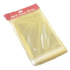 100 DVD Case Wrapping Sleeves 14mm Covers Strong - 25 Microns Resealable Bran...