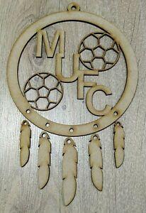 """MDF Dream Catcher """"Football Team Initials"""" Embellish, Paint, Colour, Glitter"""