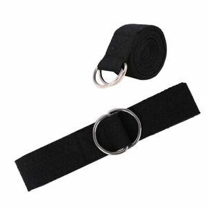 Yoga Stretch Belt Strap D-Ring Exercise Sport Band Gym Waist Leg Fitness UKStock