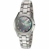 Bulova Women's Quartz Diamond Markers Silver-Tone Bracelet 32mm Watch 96P158