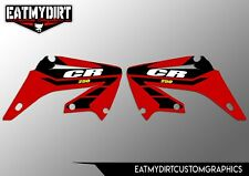 FOR HONDA CR 250 2002 - 2007 PAIR OF RADIATOR GRAPHICS STICKERS DECALS MX CR250