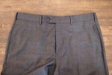 Recent Mid Grey Fresco Flat Front BROOKS BROTHERS Regent Dress Trousers 36