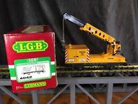 LGB 4042 Matra Construction Crane Car G Gauge Train Original Box