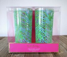 LILLY PULITZER Set Of 2 Acrylic Hi-ball Glasses Costa Verde Abstract Drinking