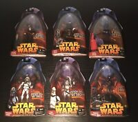 Lot Of 6 Dark Side Star Wars Revenge of the Sith Hasbro Action Figures 2005!!