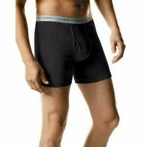 Hanes Men's ComfortSoft Tagless Boxer Briefs 4 Pack (2349AT) Black/Gray M