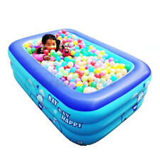 6.6 Ft Swimming Pool Fun Outdoors Play Rectangular Inflatable Family Adults Kids