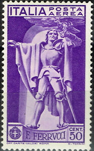 Italy FamousMilitary Leader F. Ferrucci stamp 1930 MLH