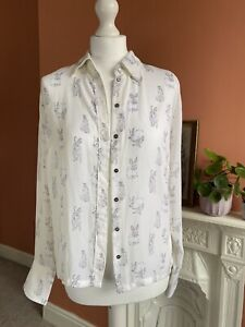 H&M Ladies Rabbit Print Shirt
