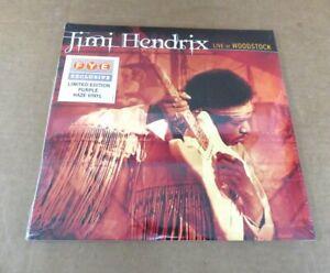 Sealed Jimi Hendrix Live At Woodstock 3-LP Purple Vinyl Set FYE Exclusive No Res