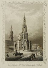 DRESDEN - Katholische Hofkirche - A.H. Payne - Stahlstich 1848