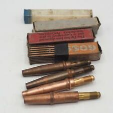 Vintage Lot of 4 Brass Welding Tips
