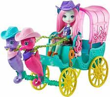 Enchantimals FKV61 Sandella Seahorse Western-style Coach Doll & Carriage Playset