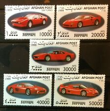 Ferrari mnh set of 5 stamps 1999 Afghanistan