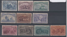 UNITED STATES 1893 Columbian Exposition set 1c to 30c - 11950