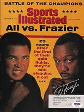 Joe Frazier Signed 1996 Sports Illustrated Magazine PSA/DNA COA w/ Muhammad Ali