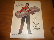 "1944 Philip Morris Cigarettes Vintage Magazine Ad ""Fine to Give Fine to Get"""