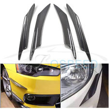4pcs/set A Style Carbon Fiber Front Bumper Lip Kit for Mitsubishi Lancer EX EVO