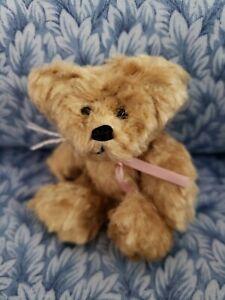 """VINTAGE 3+1/2""""TEDDY BY JANIE MCQUILLAN/WEE BEE BEARS OOAK circa early 1990s"""