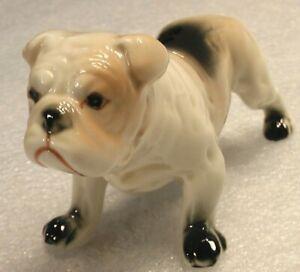 ENGLISH BULLDOG FIGURINE CERAMIC PORCELAIN PUPPY DOG POOCH COLLECTIBLE ANIMAL