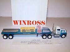 1992 Limited Ed CarTech Winross Diecast Metal Flatbed Truck Carpenter Technology