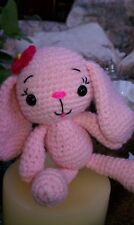 Magic Forest Bunny named Dahlia-handcrafted amigurumi - crocheted bunny/rabbit!
