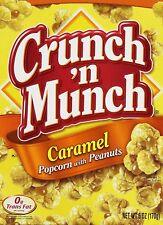 NEW CRUNCH 'N MUNCH CARAMEL POPCORN WITH PEANUTS 6 OZ BOX 0G TRANS FAT FREE SHIP