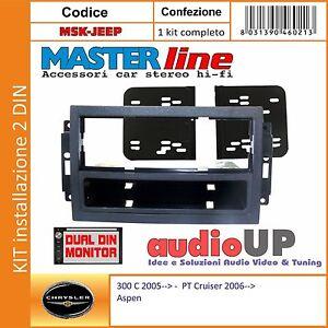 MASCHERINA RADIO 1 DIN PER CHRYSLER 300C DAL 2005 IN POI.