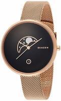 Skagen SKW2371 Gitte 38MM Women's Moon Phase Rose-Tone Stainless Steel Watch