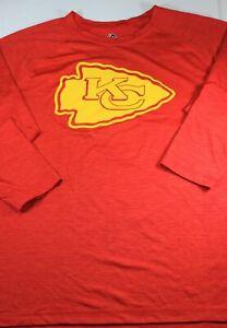 Men's New Kansas City Chiefs T shirt 2XL 26 x 29 XXL Long sleeve