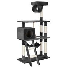 [en.casa]® Rascador para gatos gris árbol escalador sisal poste para arañar