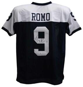 Tony Romo Autographed/Signed Pro Style Blue XL Jersey BAS 22471