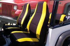 Jeep Wrangler 1987-96 custom neoprene Front & Rear seat cover Yellow/Black yj127
