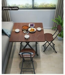 Kitchen Island Desk High Bench Bar Dining  Folding Square  Space Portable Table